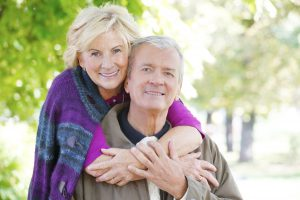 Older couple in a happy relationship with Love Longevity