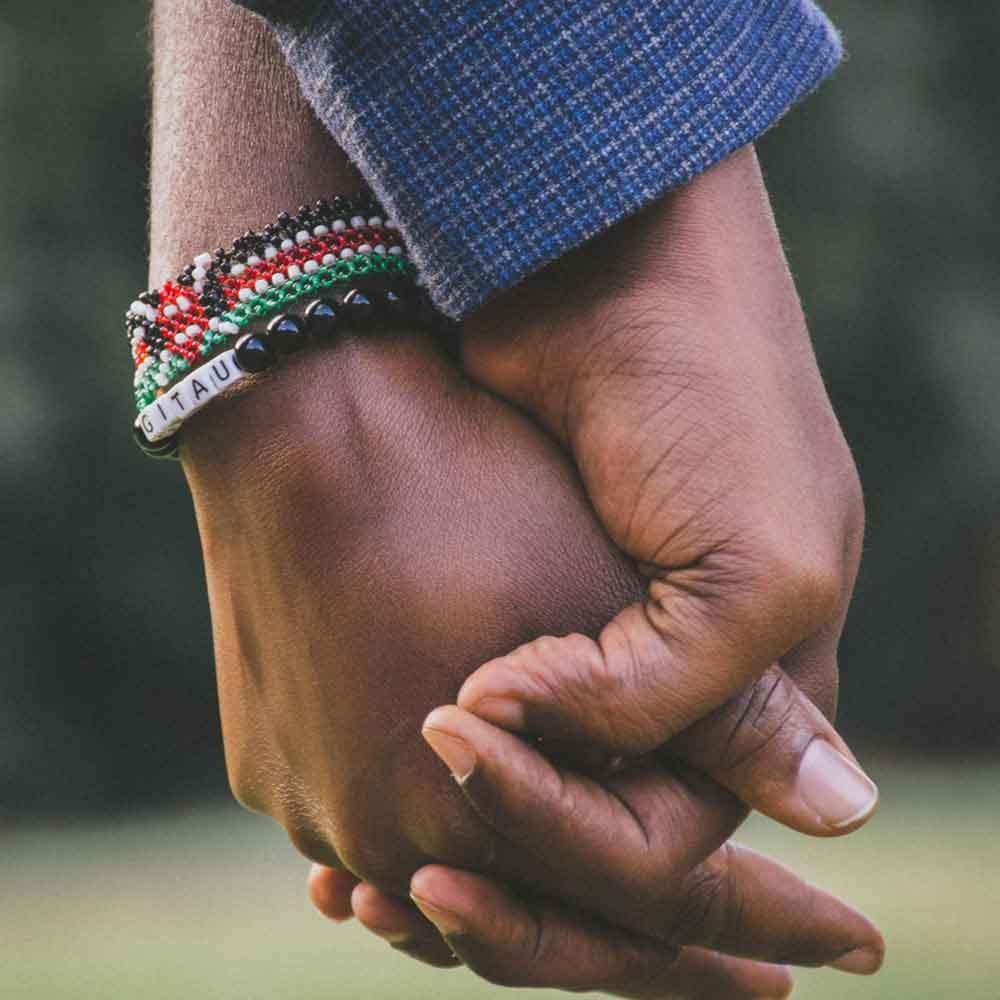 Two hands held